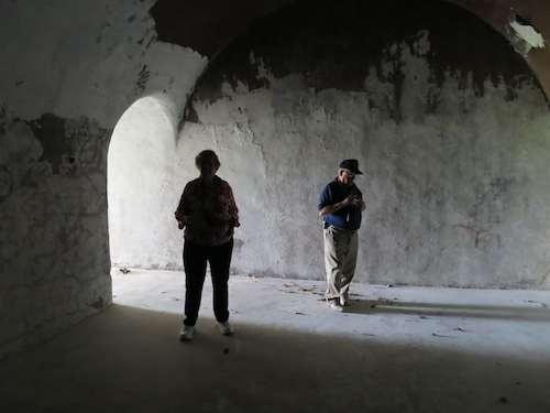 Inside the communications bunker