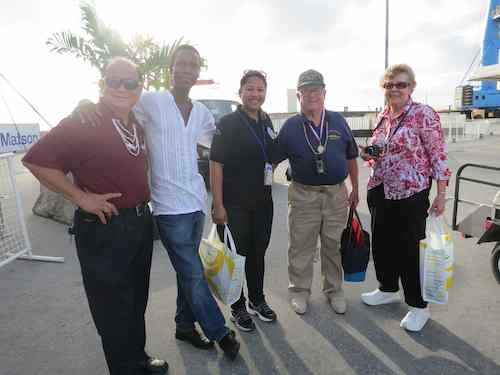 Felix Reyes, me, Frances, Lloyd and Judy...almost final farewell!
