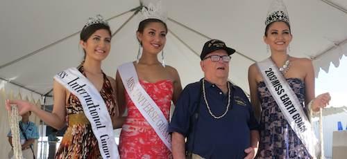 Lloyd Glick and other beauties! (l.to r: Lirene Veksler, Aliyes Scott, Katarina Martinez)