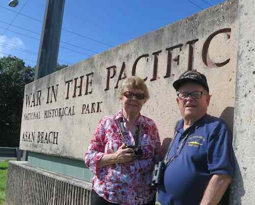 Judy and Lloyd at the War in the Pacific National Historic Park Asan Beach park